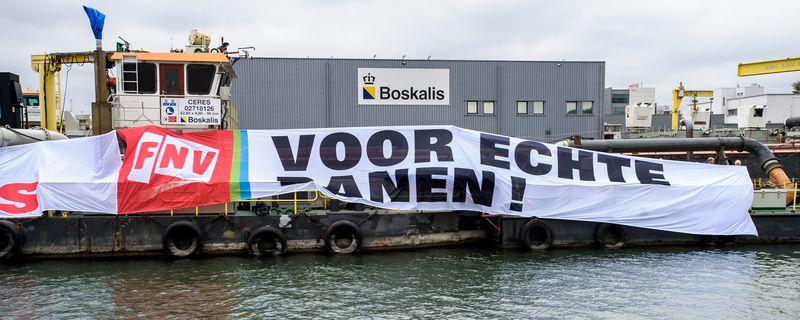 Echte-banen-actie FNV Waterbouw 28 oktober 2016