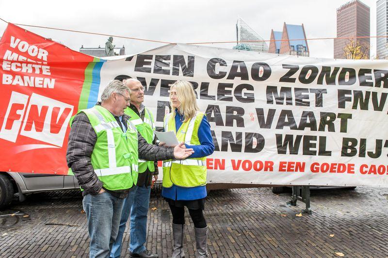 3 november Echte Banen Actie in Den Haag