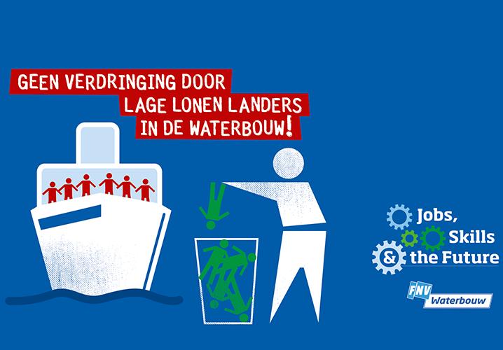 GEEN VERDRINGING DOOR LAGE LONEN LANDERS IN DE WATERBOUW!